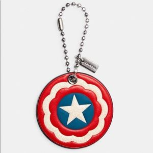 COACH │ MARVEL CAPTAIN AMERICA SHIELD HANGTAG